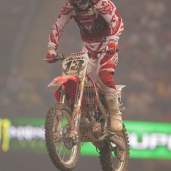 14 March 2009: Heath Voss (13) gains air during the Monster Energy AMA Supercross race at the Louisiana Superdome in New Orleans, Louisiana