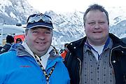 12.Jan.2012; Adelboden; Ski alpin - Riesenslalom Adelboden 2013; Stefan Carti Restaurant Trube Wattenwil links und Ueli Graf Restaurant Grizzlibaer in Laengenbuehl. (Christian Pfander/freshfocus)