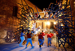 "Performers take part in ""Ospizio"", a site-specific theatre production by Maltese theatre company Theatre Anon in Floriana, outside Valletta July 12, 2010. The production, part of the three-week long Malta Arts Festival, is taking place in the Ospizio, which was once a powder mill built by the Knights of St John and later used as an institution to house the more vulnerable members of society - the old, the sick, the infirm, orphaned and unwanted children, prostitutes and the destitute...."