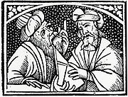 Astronomers. From the title page of 'Opera' of Appolonius of Perga, 1537.
