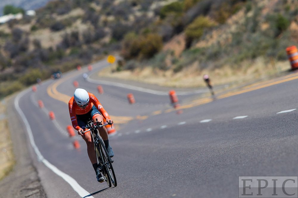 SILVERY CITY, NM - APRIL 20: Abigail Mickey (Rally Cycling) during stage 3 of the Tour of The Gila on April 20, 2018 in Silver City, New Mexico. (Photo by Jonathan Devich/Epicimages.us)