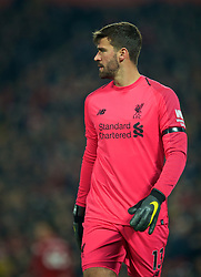 LIVERPOOL, ENGLAND - Wednesday, February 27, 2019: Liverpool's goalkeeper Alisson Becker during the FA Premier League match between Liverpool FC and Watford FC at Anfield. (Pic by Paul Greenwood/Propaganda)