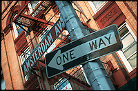Amsterdam Avenue in New York, street sign.