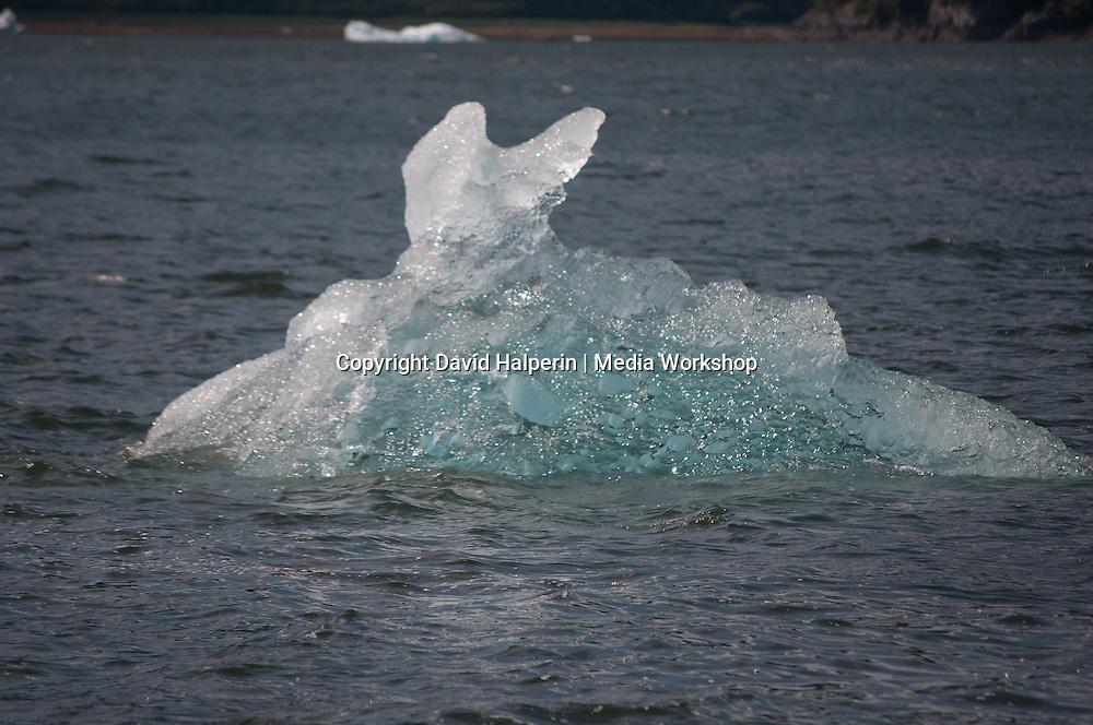 "Iceberg closeup. Melted into ""rabbit ears"" shape."