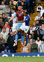 Photo: Steve Bond/Sportsbeat Images.<br /> Birmingham City v Aston Villa. The FA Barclays Premiership. 11/11/2007. John Carew (C) beats Wilson Palacios (R) in the air