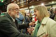DAVID KIRKE; PROF ROSALIND MARSH, William Fitzgerald, Book launch ,  'How to read a Latin poem - if you can't read Latin yet' published by OUP.- Daunts bookshop Marylebone, London 21 February 2013.