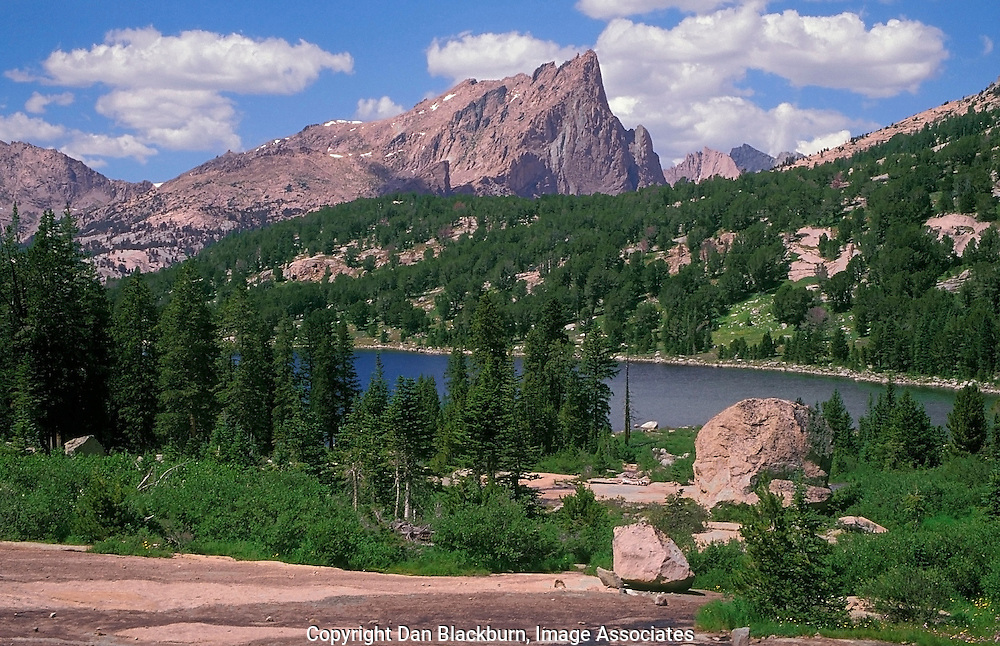 Warbonnet Peak Rises Above Clear Lake in the Wind River Range of Wyoming
