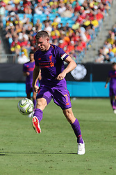 July 22, 2018 - Charlotte, NC, U.S. - CHARLOTTE, NC - JULY 22: Liverpool midfielder James Milner (7) during the 2nd half of the International Champions Cup match between Liverpool FC and Borussia Dortmund on July 22, 2018 at Bank of America Stadium in Charlotte, NC.(Photo by Jaylynn Nash/Icon Sportswire) (Credit Image: © Jaylynn Nash/Icon SMI via ZUMA Press)