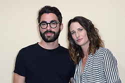 Camille Cottin and her partner attending the Bonpoint Haute Couture Paris Fashion Week Fall/Winter 2018/19 held in Paris, France on july 04, 2018. Photo by Aurore Marechal/ABACAPRESS.COM