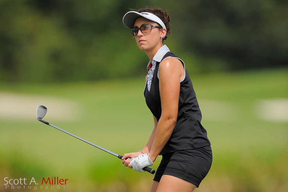 Courtney Massey in action during the final round of the Daytona Beach Invitational  at LPGA International on Sep 29, 2012 in Daytona Beach, Florida...©2012 Scott A. Miller
