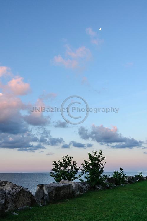 Breaking dawn over Lake Erie