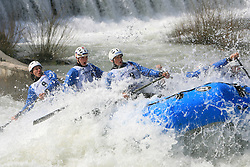 Gimpex of Slovenia at Euro Cup 2009 R6 Rafting in TT & H2H and Slovenian National Championship 2009, on April 4, 2009, in Tacen, Ljubljana, Slovenia. (Photo by Vid Ponikvar / Sportida)