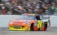 Nov. 8, 2009; Fort Worth, TX, USA; NASCAR Sprint Cup Series driver Jeff Gordon during the Dickies 500 at the Texas Motor Speedway. Mandatory Credit: Jennifer Stewart-US PRESSWIRE