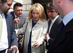 JK Rowling leaves The Mansion House in London after receiving the Freedom of the City of London, Tuesday 8th May  2012. Photo by: Stephen Lock / i-Images