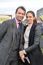 JAMES & JESS PUREFOY at the 2015 Hennessy Gold Cup held at Newbury Racecourse, Berkshire on 28th November 2015.
