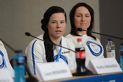 February 8, 2018 - Pyeonchang, Republic of Korea - KRISTA PARMAKOSKI of the Finnish cross country ski team at a press conference prior to the start of the 2018 Olympic Games (Credit Image: © Christopher Levy via ZUMA Wire)