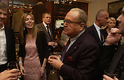 Umbera Beretta and her father in law Dr Franco Beretta. Charles Finch and Dr. Franco Beretta host launch of Beretta stor at 36 St. James St. London. 10  January 2006. ONE TIME USE ONLY - DO NOT ARCHIVE  © Copyright Photograph by Dafydd Jones 66 Stockwell Park Rd. London SW9 0DA Tel 020 7733 0108 www.dafjones.com