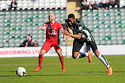Plymouth Argyle's Jamille Matt during the Sky Bet League 2 match between Plymouth Argyle and York City at Home Park, Plymouth, England on 28 March 2016. Photo by Graham Hunt.