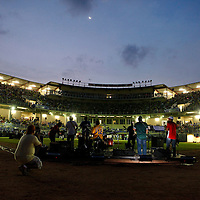 Latin Grammy Award winners, Rabanes, performing in the new, Omar Torrijos, baseball stadium in the city of Santiago, Veraguas.