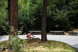 Nicole Hanselmann (SUI) at Giro Rosa 2018 - Stage 7, a 15 km individual time trial from Lanzada to Alpe Gera di Campo Moro, Italy on July 12, 2018. Photo by Sean Robinson/velofocus.com
