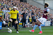 Burton Albion defender John Brayford (3) and Aston Villa defender Jordan Amavi (23) during the EFL Sky Bet Championship match between Burton Albion and Aston Villa at the Pirelli Stadium, Burton upon Trent, England on 8 April 2017. Photo by Richard Holmes.