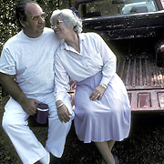Affectionate senior couple on back to pick up truck laughing - Putnam County, FL Intimacy and sexual interactions are important to us throughout our lives.
