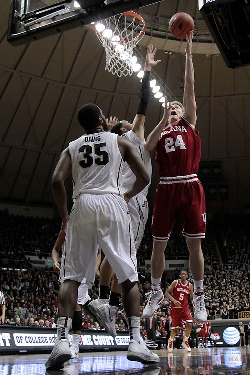 15 February 2014: Indiana Forward Jeff Howard (24) as the Indiana Hoosiers played the Purdue Boilermakers in a college basketball game in West Lafayette, Ind.