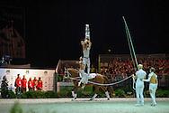 Team GER, Delia 99, Jessica Schmitz - Squad Freestyle Vaulting - Alltech FEI World Equestrian Games&trade; 2014 - Normandy, France.<br /> &copy; Hippo Foto Team - Jon Stroud<br /> 03/09/2014