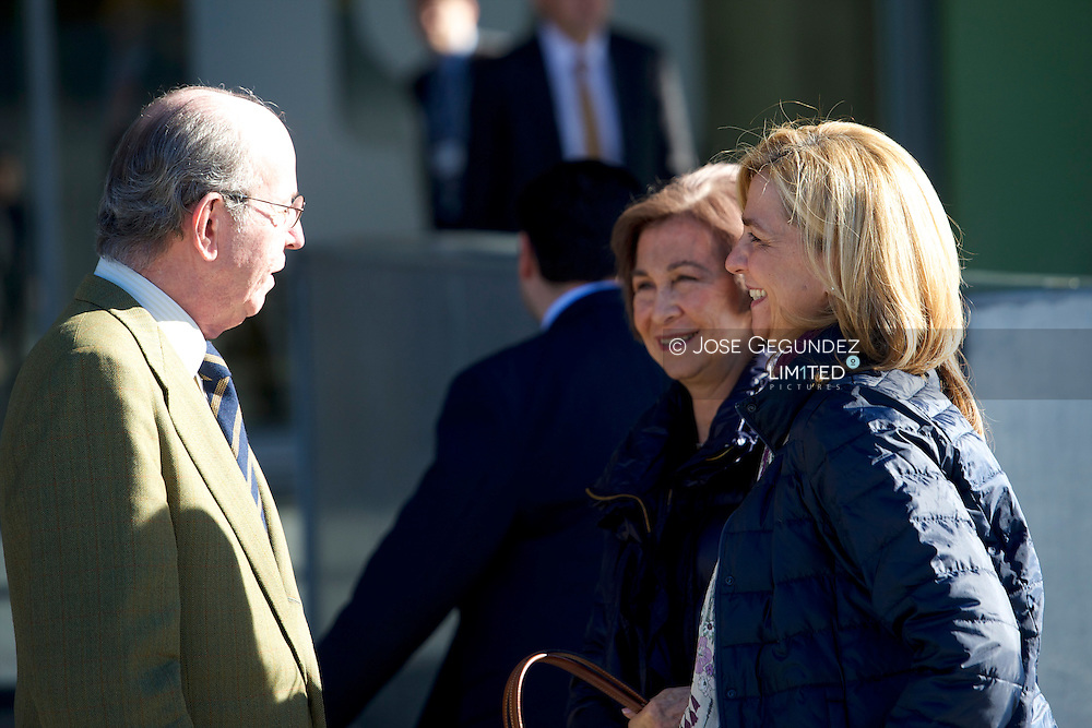 Queen Sofia of Spain and Princess Cristina visits to King Juan Carlos of Spain at the Quiron University Hospital on November 23, 2013 in Pozuelo de Alarcon, Spain. The Spanish King is set to undergo surgery to get a final prosthesis on his left hip. The operation will be the King's ninth in three years