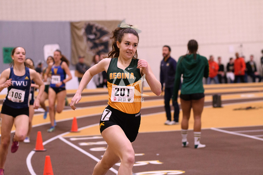 Tianna Dodds in action during the 2018 Canada West Track & Field Championship on February  24 at James Daly Fieldhouse. Credit: Arthur Ward/Arthur Images