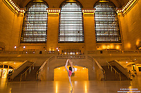 Ballerina Grand Central Station Grand Concourse En Pointe. Dance As Art- The New York Photography Project.
