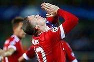 26-08-2015 VOETBAL:CLUB BRUGGE-MANCHESTER UNITED:BRUGGE<br /> Champions League 2015-2016<br /> <br /> Rooney van Manchester United na zijn eerste treffer<br /> <br /> Foto: Geert van Erven