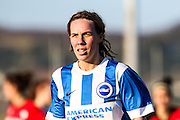 Charlotte Gurr taken during the FA Women's Sussex Challenge Cup semi-final match between Brighton Ladies and Hassocks Ladies FC at Culver Road, Lancing, United Kingdom on 15 February 2015. Photo by Geoff Penn.