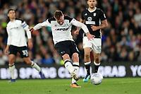 DERBY, ENGLAND - MAY 11: - DCFC vs Fulham. Richard Keogh, plays the ball forward