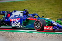 February 19, 2019 - Barcelona, Spain - Alex Albon of Scuderia Toro Rosso Honda with the new STR14 car during second journey of F1 Test Days in Montmelo circuit, on February 19, 2019. (Credit Image: © Javier MartíNez De La Puente/NurPhoto via ZUMA Press)
