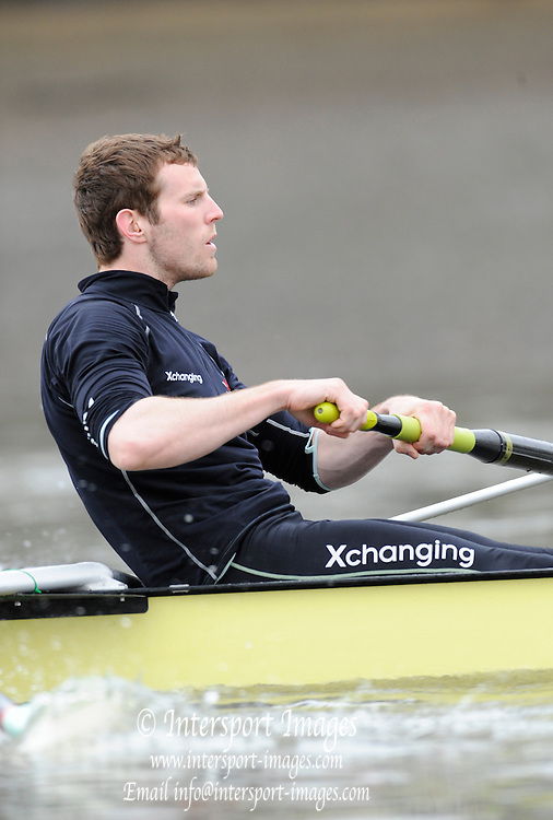 Putney, London, Cambridge UBC. President and No.5. Deaglan McEACHERN, during the CUBC morning training session on the River Thames. Varsity, University Boat Race, Tideway Week, Tuesday  30/03/2010 [Mandatory Credit Peter Spurrier/ Intersport Images]