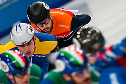 Short tracker Daan Breeuwsma in action on the 1500 meter semifinals during ISU European Short Track Speed Skating Championships 2020 on January 25, 2020 in Fonix Hall, Debrecen, Hungary