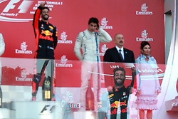 June 25, 2017 - Baku, Azerbaijan - Motorsports: FIA Formula One World Championship 2017, Grand Prix of Europe, .#3 Daniel Ricciardo (AUS, Red Bull Racing), #18 Lance Stroll ( CAN, Williams Martini Racing) (Credit Image: © Hoch Zwei via ZUMA Wire)