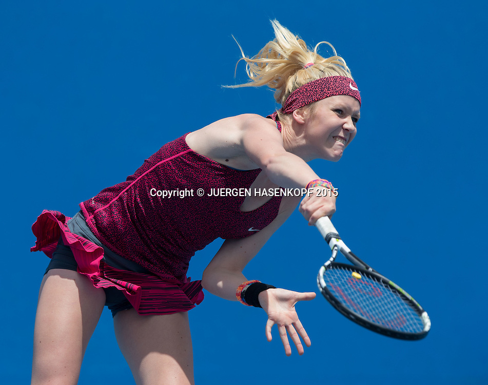 Katharina Hobgarski (GER)<br /> <br /> Tennis - Australian Open 2015 - Grand Slam ATP / WTA -  Melbourne Olympic Park - Melbourne - Victoria - Australia  - 25 January 2015.