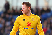 MK Dons goalkeeper David Martin during the EFL Sky Bet League 1 match between Chesterfield and Milton Keynes Dons at the Proact stadium, Chesterfield, England on 2 January 2017. Photo by Aaron  Lupton.