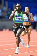 Francine Niyonsaba (BDI) wins the women's 800m in 1:56.92 during IAAF Birmingham Diamond League meeting at Alexander Stadium on Sunday, June 5, 2016, in Birmingham, United Kingdom. Photo by Jiro Mochizuki