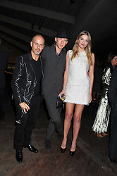 Left to right, ITALO ZUCCHELLI, JEFFERSON HACK and LILY DONALDSON at a dinner hosted by Calvin Klein Collection to celebrate the future Home of The Design Museum at The Commonwealth Institute, Kensington, London on 13th October 2011.