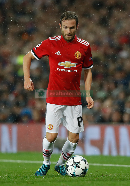 Manchester United's Juan Mata during the UEFA Champions League, Group A match at Old Trafford, Manchester. PRESS ASSOCIATION Photo. Picture date: Tuesday September 12, 2017. See PA story SOCCER Man Utd. Photo credit should read: Martin Rickett/PA Wire