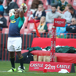 Bongi Mbonambi of South Africa during the 2018 Castle Lager Incoming Series 1st Test match between South Africa and England at Emirates Airline Park,<br /> Johannesburg.South Africa. 09,06,2018 Photo by (Steve Haag Sports)