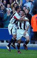 Fotball<br /> England Nationwide 1 2003/2004<br /> Norway Only<br /> Foto: Digitalsport<br /> <br /> WEST BROMICH ALBION / NORWICH CITY NATIONWIDE LEAGUE 18/10/03 <br /> PHOTO TIM PARKER<br /> JASON KOUMAS CELEBRATES WBA 1ST GOAL
