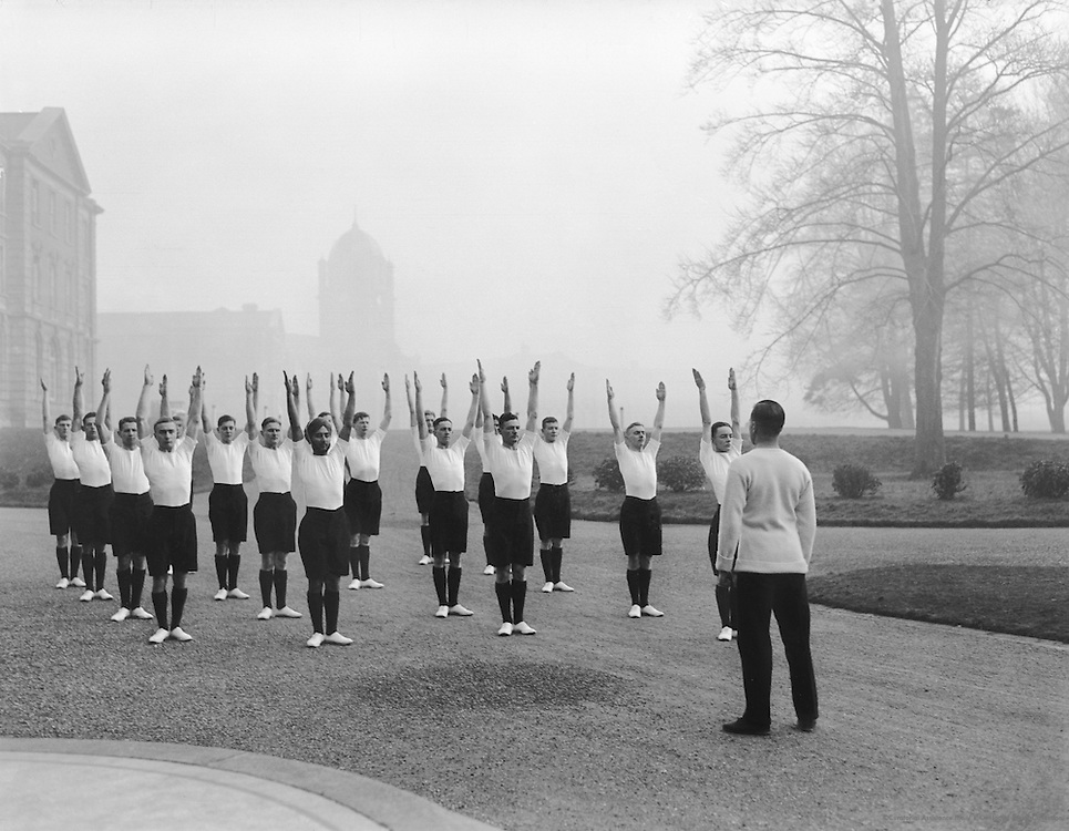 Physical Exercises at Royal Military College, Sandhurst, England, 1932