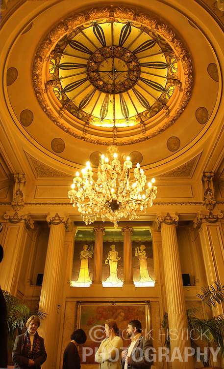 The ultimate architecture cafe is Ultieme Hallucinatie , decorated between 1887 and 1904 and features French and Scottish variations of Art Nouveau decor in seperate rooms. (Photo © Jock Fistick)
