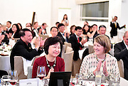 Dr. Cheong Koon Hean and Kathleen Carey, President and Chief Executive Officer ULI Foundation during the J.C. Nichols Prize dinner for Visionaries in Urban Development in Singapore on January 18, 2017.