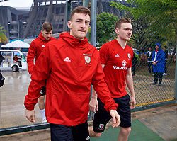 NANNING, CHINA - Saturday, March 24, 2018: Wales' Tom Lockyer during a training session at the Guangxi Sports Centre ahead of the 2018 Gree China Cup International Football Championship final match against Uruguay. (Pic by David Rawcliffe/Propaganda)