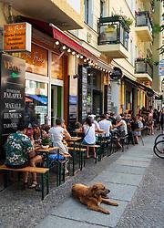 Busy weekend restaurants in Friedrichshain district of Berlin, Germany